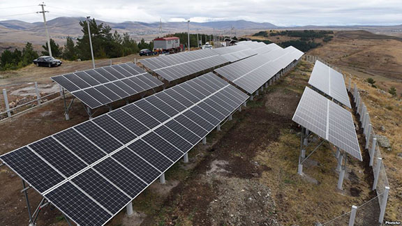 Opening ceremony of the 'ArevEk' solar station took place in Tsaghkadzor of Kotayk Province, Armenia
